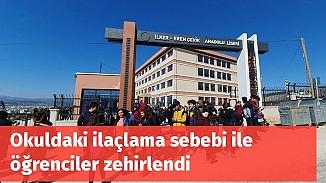Mersin'de rögar ilaçlaması yapılan okulda 17 öğrenci zehirlendi