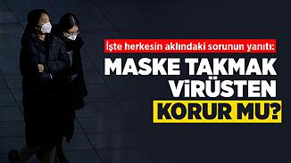 N95 maskesi korona virüsünden korur mu? Maske takmak faydalı mı?