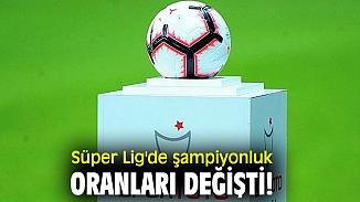 Şampiyonluk oranları belirlendi en büyük aday ''Fenerbahçe''