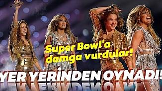 Super Bowl'un devre arası şovunda Shakira ve Jennifer Lopez yürekleri hoplattı