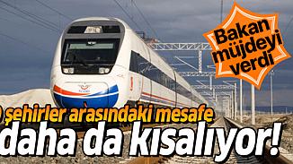 Ulaştırma Bakanından müjde! Ankara Sivas arası 2 saate iniyor