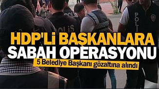 5 HDP'li belediye başkanı terör kapsamında görevlerinden alındılar