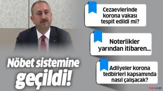 Adalet bakanından önemli korona virüs tedbirleri açıklaması