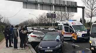 Ankara'da ehliyetsiz sürücü zincirleme kazaya neden oldu