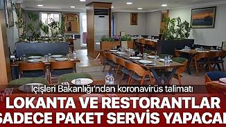 Bakanlık genelge yayınladı, Restorant ve lokantalarda masalar kalkıyor!