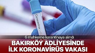 Bakırköy Adliyesinde koronavirüs vakası çıktı mahkemeler karantinaya alındı