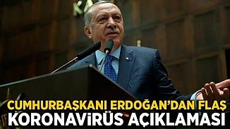 Cumhurbaşkanı Erdoğan'dan koronavirüs vakası değerlendirmesi