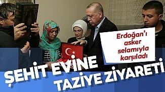 Cumhurbaşkanı Erdoğan, İdlib şehidinin baba evine taziye ziyaretinde bulundu