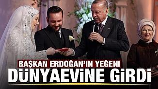Cumhurbaşkanı Erdoğan'ın mutlu günü; Yeğeni Sevde Erdoğan dünyaevine girdi