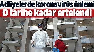 İstanbul Adliyesi'nde davalar 14 Nisan'a kadar askıya alındı