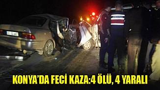 Konya'da katliam gibi kaza! Bilanço 4 ölü
