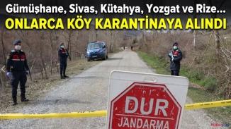Korona karantinaları artıyor! Karantina bölgelerine Gümüşhane, Sivas ve Çankırı'da köyler eklendi