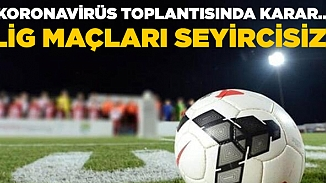 Süper lig maçları Nisan sonuna kadar seyircisiz oynanacak