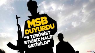 TSK'dan terör örgütüne darbe! 9 PKK/YPG'li terörist öldürüldü