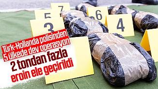 Türk ve Hollanda polisinden ortak operasyon