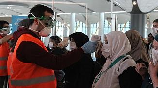 Umre'den dönen yolculara koronavirüs taraması