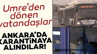 Umre yolcuları Ankara'da 3 farklı KYK yurduna yerleştirildi