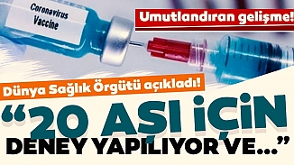 Umut veren açıklama! Koronavirüse karşı dünyada 20 aşı geliştirildi