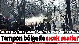 Yunan güçlerinden göçmenlere biber gazlı müdahale! 4 göçmen yaralandı