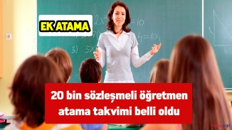 20 bin sözleşmeli öğretmen atama takvimi yayınlandı – 20 bin Ek sözleşmeli öğretmen atama takvimi yayında