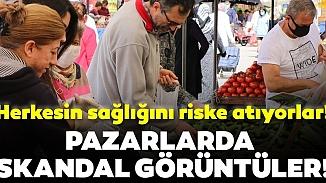 Adana'lı vatandaşlar yasak dinlemediler, pazarda koronavirüse meydan okudular