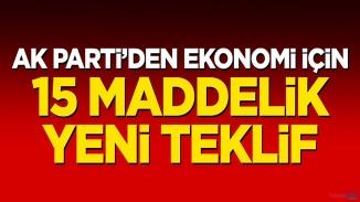 AK parti'den korona'ya karşı yeni ekonomik paket kanun teklifi
