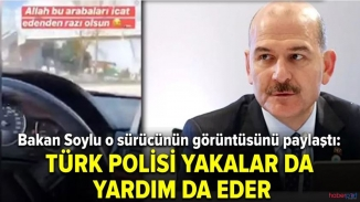 Bakan Soylu'dan anlamlı paylaşım! 'Türk polisi yakalar da, yardım da eder'