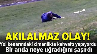 Beşiktaş'ta çimde kahvaltı yaparken serseri kurşunla yaralandı!