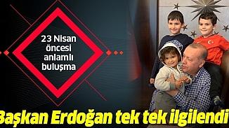 Cumhurbaşkanı Erdoğan'ın torunlarıyla 23 Nisan coşkusu