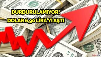 Dolar durmuyor! Kritik seviye 6.90 lira aşıldı!