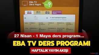 EBA TV yayın akışı ilkokul,ortaokul, lise dersleri ve tekrar ders saatleri 30 Nisan Perşembe