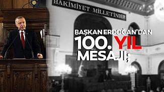 Erdoğan'dan Meclisin 100. yılı ve 23 Nisan'a özel çocuklara mesaj