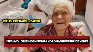 İspanyol gribinden sonra koronaya karşıda galip gelen 104 yaşındaki kadın!