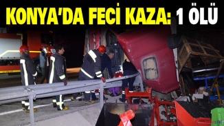 Konya'da korkunç kaza! Tır ata çarptı,sürücü hayatını kaybetti