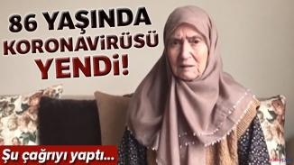 Korona'ya karşı galip gelen 86 yaşındaki Resmiye nine