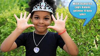 Minik Zeynep, babasını Afrika'dan getiren kişiye 10 kutu şeker sözü verdi