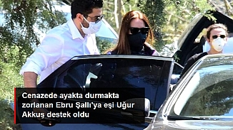 Pars'ın cenaze töreninden görüntüler; Ebru Şallı ayakta durmakta zorlandı!
