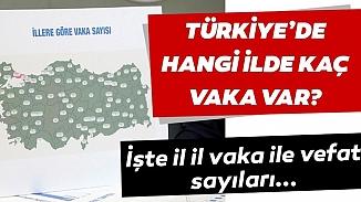 Rakamlarla açıklandı! Türkiye'de kornavirüsü salgınının illere göre dağılımı