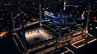 Ramazan vesilesiyle, Çamlıca camisinin minarelerinden teravih için ilk ezan verildi