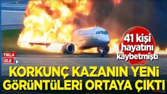 Rusya'da  41 kişinin hayatını kaybettiği uçak kazasında yeni görüntüler!