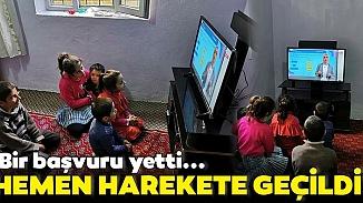 Şemdinli Beldiyesi 10 çocuğu EBA TV'ye kavuşturdu