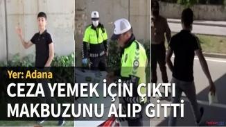 Sokağa neden çıktığı soran polise 'ceza yemek' için dedi! Ceza makbuzunu aldı gitti