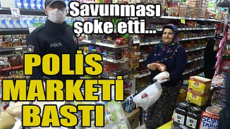 Sultangazi'de yasak dinlemeyen markete polis baskını!
