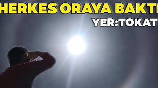 Tokat'ta muhteşem doğa olayı! Gözlerini güneşten alamadılar