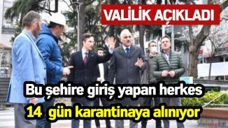 Trabzon valiliği önlemleri sıkılaştırdı! Her ne şekilde olursa olsun şehre giren 14 gün karantinada tutulacak!