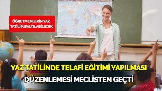 Yaz tatilinde telafi eğitiminin yasal düzenlemesi hazır!