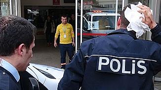 Zeytin fidesi tartışmasına giden 3 polis memuru darp edildi