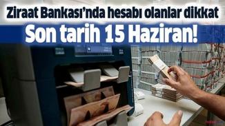 Ziraat Bankası uyardı! Hesabı olanlar dikkat