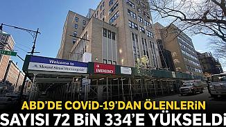 ABD'de Kovid-19 nedeniyle ölü sayısı 72 bin 334'e yükseldi