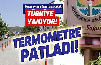 Adana'nın sıcağına termometreler dayanmadı!